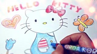 헬로키티 그림 그리기 Hello Kitty Drawing 라임튜브 LimeTube