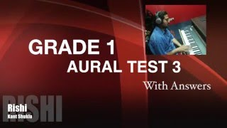 Grade 1 - Practice Aural Test 3 with Answer for Trinity