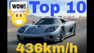 TOP 10 : Fastest Supercars