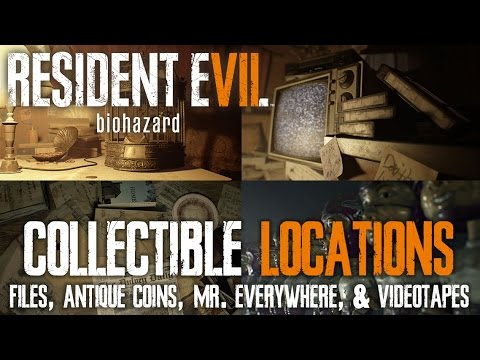 Resident Evil 7 • Collectible Locations • Files, Antique Coins, Mr  Everywhere, Videotapes