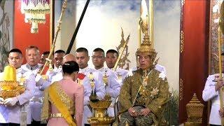 พระราชพิธีบรมราชาภิเษก | สรงพระมุรธาภิเษก ทรงรับน้ำอภิเษก ทรงรับเครื่องราชกกุธภัณฑ์
