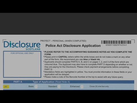 Police Act Disclosure Application