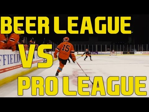 Beer League VS Pro League Players - Sheffield Steelers​ Elite Ice Hockey League