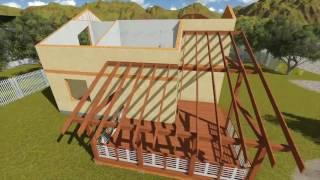 видео Пошаговая инструкция строительства каркасного дома своими руками