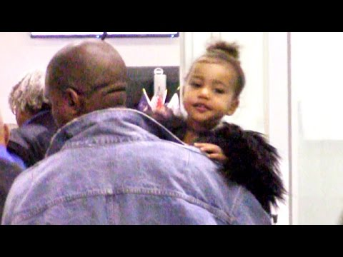 Adorable Nori Wakes Up In TSA Catching Flight To NYC With Kim And Kanye