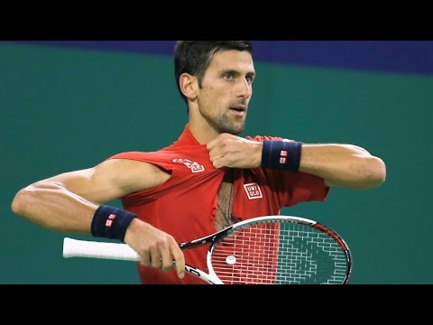 Novak Djokovic Tears His Shirt, Smashes Racket In Shanghai Masters Semifinal Defeat