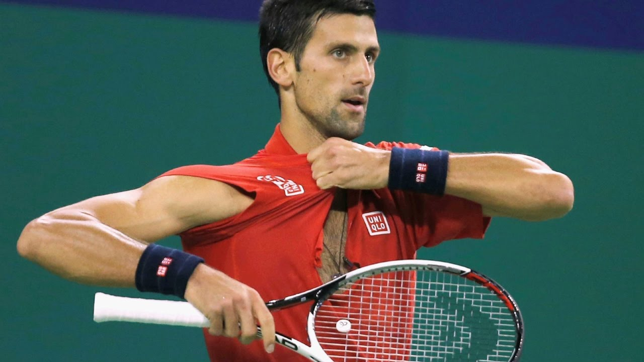 Novak Djokovic Tears His Shirt Smashes Racket In Shanghai Masters