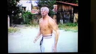 Trening Karate pozadi kukata 1987 god
