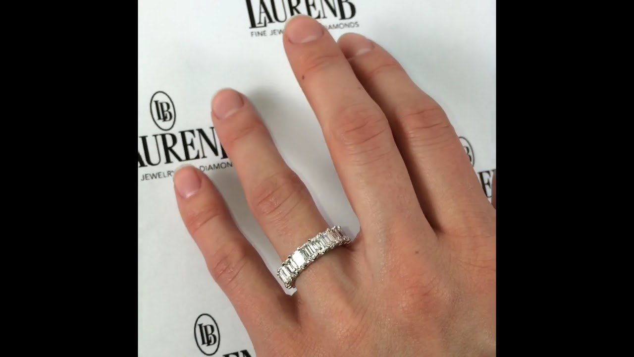 p ring floating diamond ct tw anniversary eternity platinum for in band carat shop bands