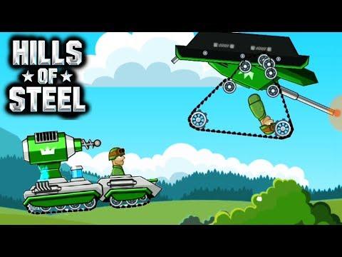 ТАНК ТЕСЛА против ИГРОКОВ | HILLS Of STEEL | Сумасшедшие мультяшные танки | Tanks BATTLE GAME