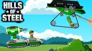 ТАНК ТЕСЛА против ИГРОКОВ HILLS of STEEL Сумасшедшие мультяшные танки tanks BATTLE GAME kids