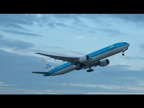 [4K] Beautiful Evening departures from Amsterdam Airport Schiphol