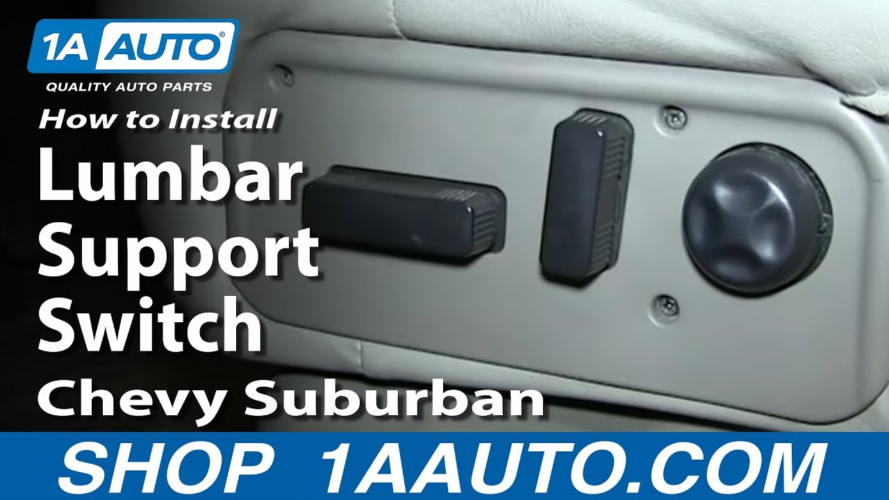 How To Replace Lumbar Support Switch 00 06 Chevy Suburban