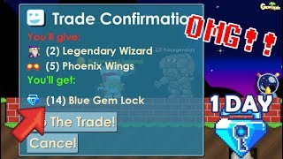GrowTopia   Selling My All Items on GrowTopia!! [BLUE GEM LOCK!] OMG!!