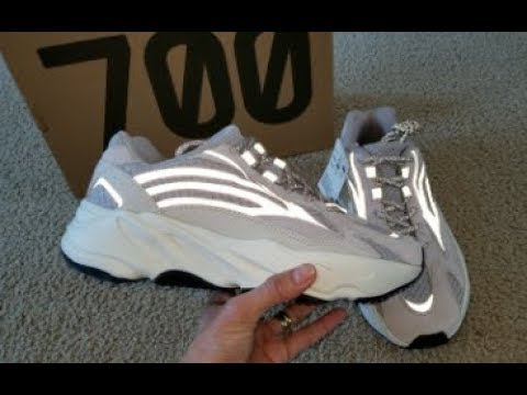 d541b3320 Adidas Yeezy Boost 700 V2 Static 3M Reflective + On Feet   Jeans Looks! 1 9  2019