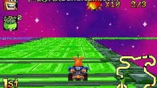 Crash Nitro Kart (GBA) - Defeating Velo (Final Boss)