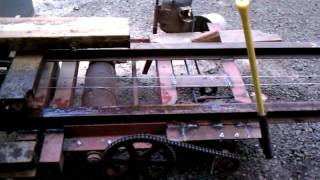 Homemade Bandsaw Mill, Carriage Drive System