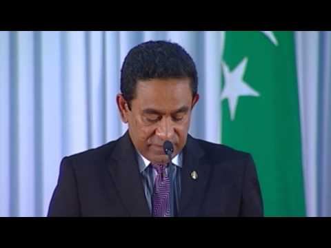 Abdulla Yameen Abdul Gayoom sworn in as President