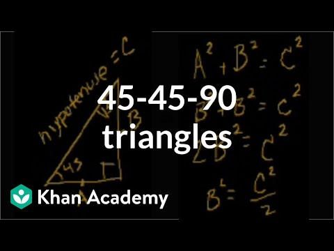 45-45-90 triangles | Right triangles and trigonometry | Geometry | Khan Academy