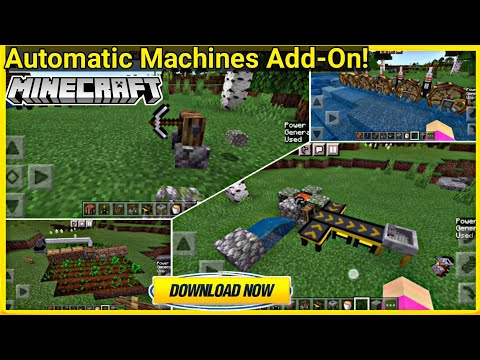 """Automatic Machines Addon For Minecraft Pe   """"Gecko's Gizmos"""" Brand NEW Minecraft   in Hindi   2021"""