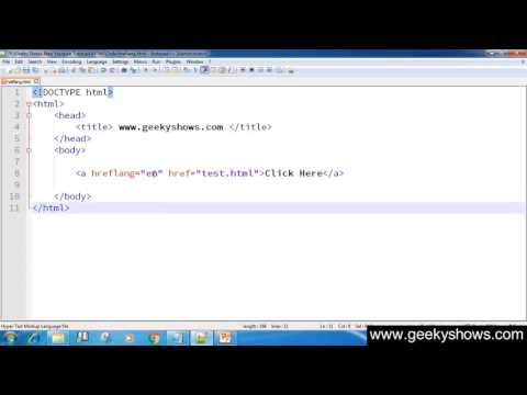 65. Example Of Hreflang Attribute In HTML (Hindi)