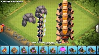clash of clans | coc animation movie strategy valkyrie attacks 3 star game town hall 9 | th10 | th11