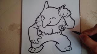 COMO DIBUJAR A HYPNO - POKEMON / how to draw hypno - pokemon