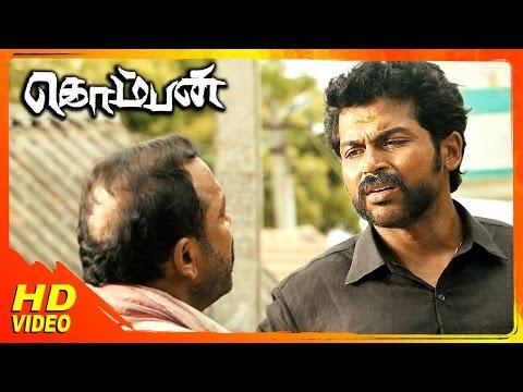 Komban Tamil Movie | Scenes | Karthi Meets Lakshmi Menon | Thambi Ramaiah