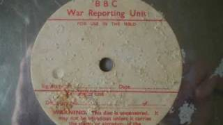 BBC War Reporting Acetate, RARE! I Still Feel The Same About You - Nan Wynn?