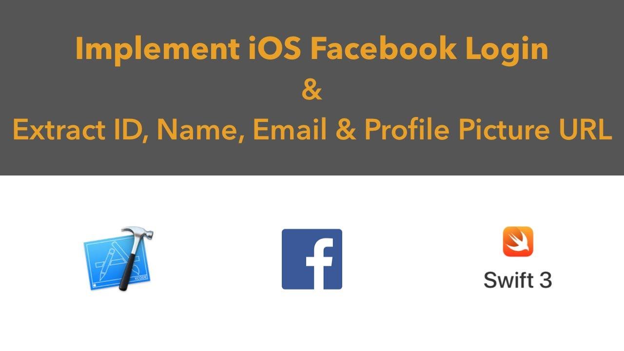 Get user id facebook ios