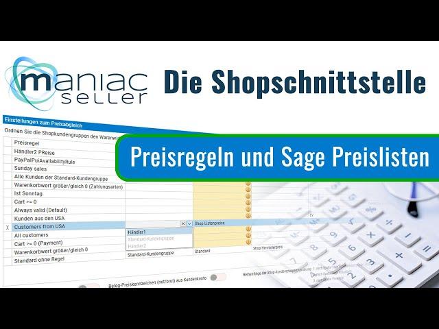 Teil 2: Preisfindung zwischen Shopware6 und Sage 100: Shopware 6 Preisregeln und Sage Preislisten