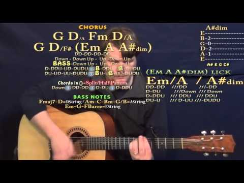 Lay Me Down (Adele) Guitar Lesson Chord Chart - Capo 4th