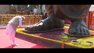 PM Modi unveils 63 ft tall panch loha statue of Pandit Deendayal Upadhyay in Varanasi