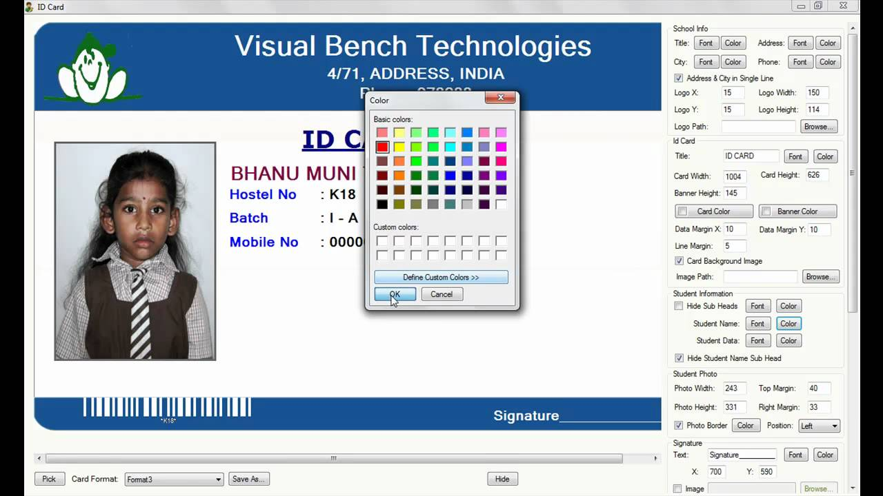 digital school id card preparation youtube - How To Make Id Card