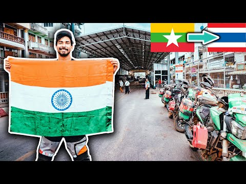 CROSSING MYANMAR-THAILAND BORDER ON BIKE
