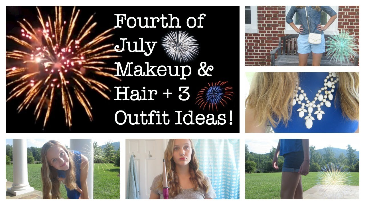 fourth of july makeup & hair