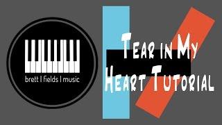 Tear in My Heart Piano Tutorial - Twenty|One|Pilots
