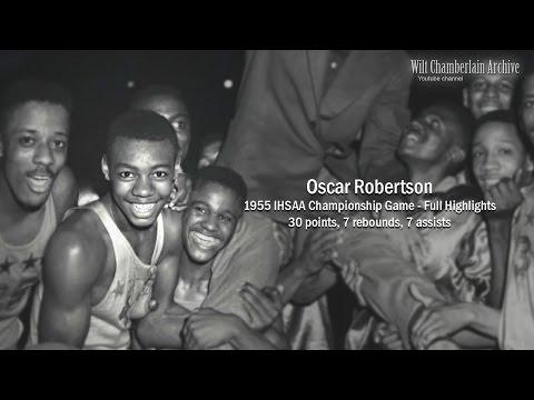 Oscar Robertson 30pts, 7reb, 7a (1955 IHSAA Championship - Full Highlights)
