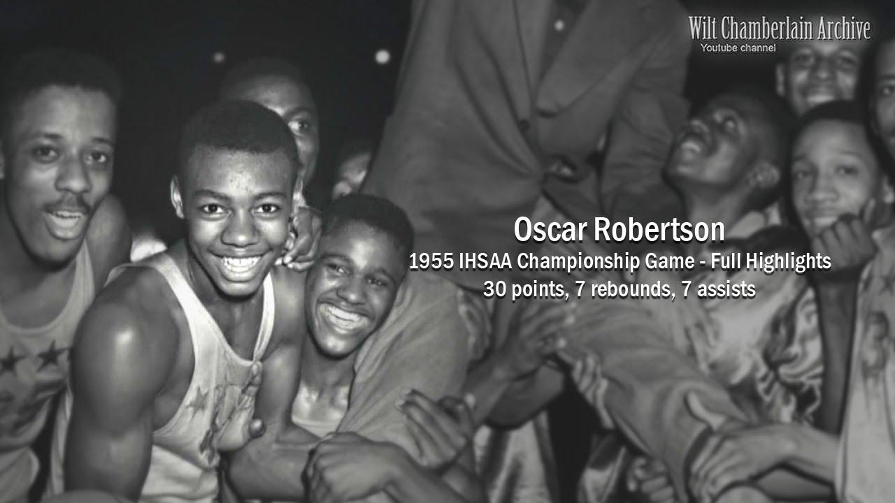 Oscar Robertson 30pts 7reb 7a 1955 IHSAA Championship Full