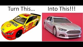 How to Convert a NASCAR Ford Fusion Scale Model to a Family Sedan (Part 2)