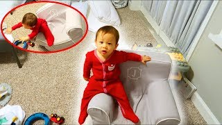 Baby Falls Off Chair! (Funny)