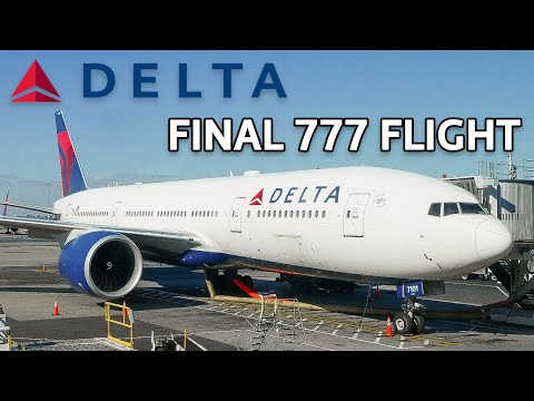 FINAL FLIGHT | Delta Airlines - Boeing 777 200 - New York (JFK) To Los Angeles (LAX)