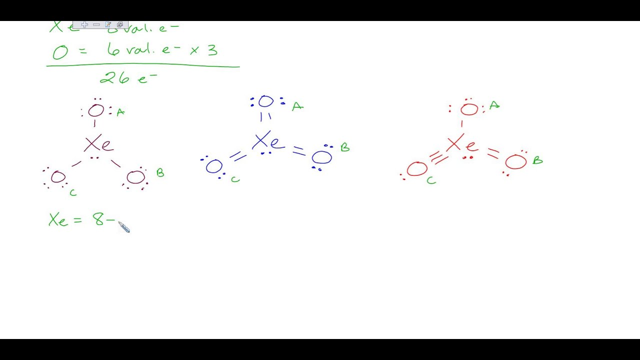 Formal Charge XeO3 - YouTubeXeo3 Lewis Structure