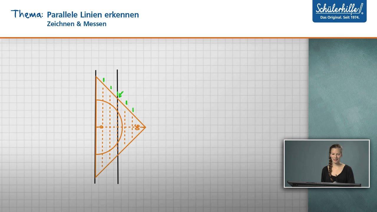 Parallele Linien zeichnen // Zeichnen & Messen // Mathematik ...