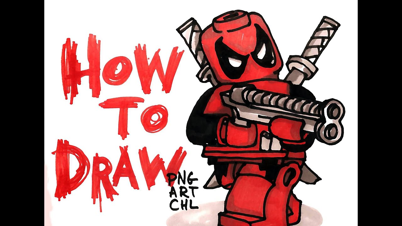 how to draw lego deadpool