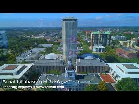 Aerial footage Tallahassee Florida USA 4k 60p