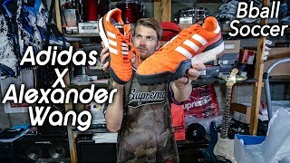 Adidas Alexander Wang Soccer Bball orange sneaker unboxing   Christian Hypebeast review