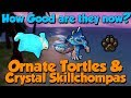 Ornate Tortles & Crystal Skillchompas after Nerf [Runescape 3] How good are they now?