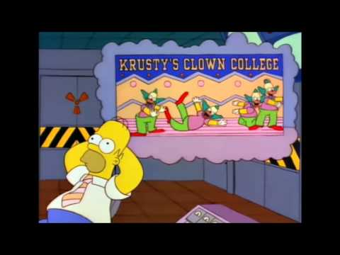 Homer simpsons clown college ad gets to homer youtube - Clown simpson ...