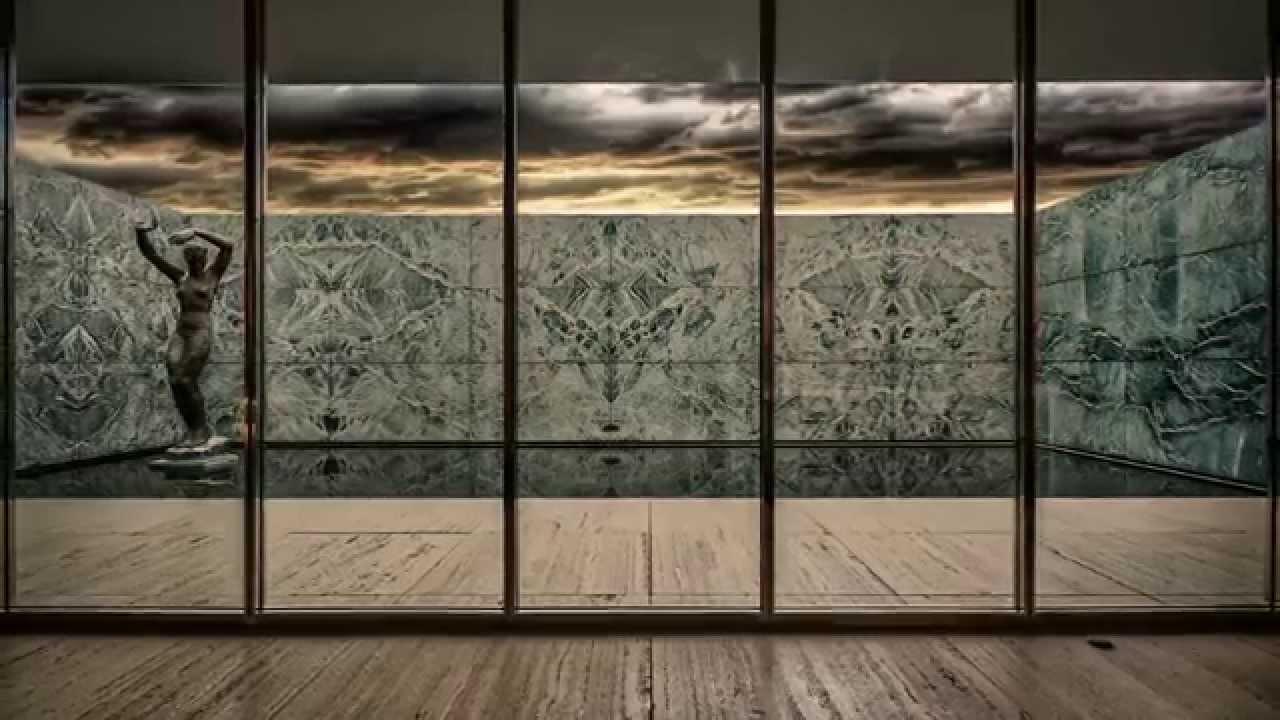 barcelona pavilion ludwig mies van der rohe youtube. Black Bedroom Furniture Sets. Home Design Ideas